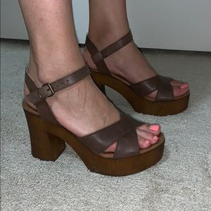 Brown Platforms handmade in Spain 37